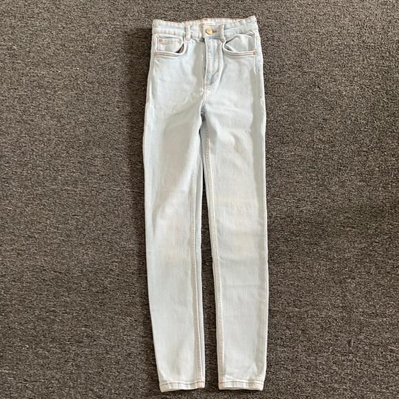 Super skinny jeans light blue